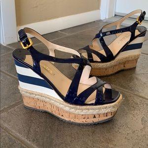 Prada blue wedge size 39 / 8